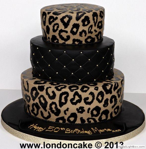 41 best Leopard print cakes images on Pinterest Leopard cake