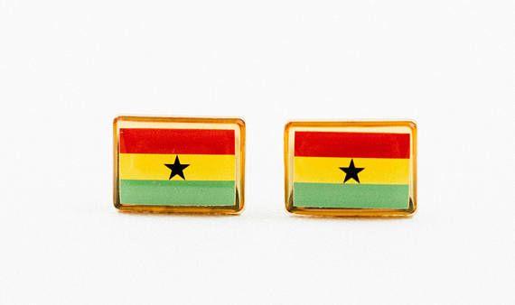 Ghana Flag Cufflinks