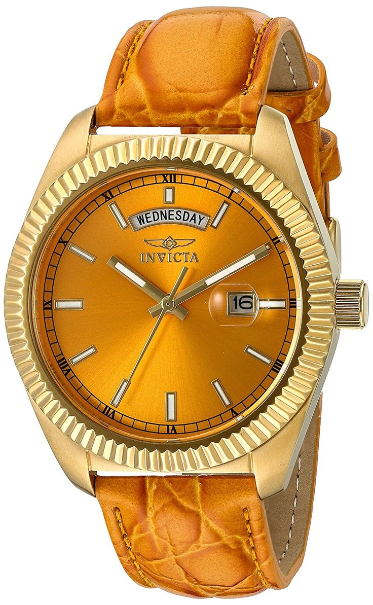 Invicta Women's 18278 Angel Orange Genuine Leather Watch ** Find out more about the great watch at the image link.