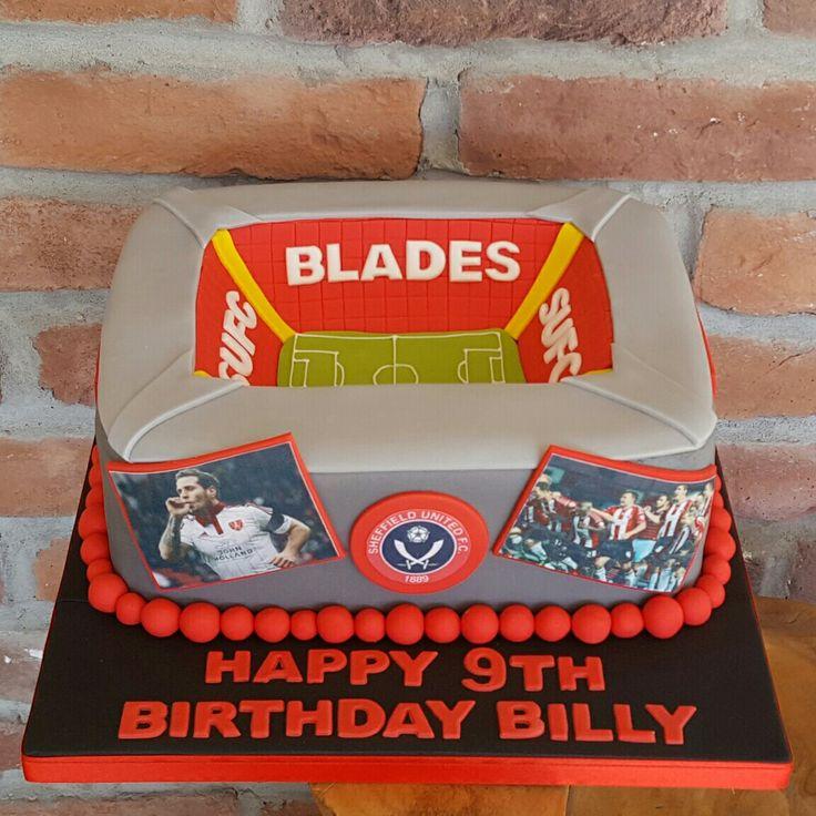 Sheffield united football stadium cake ☺