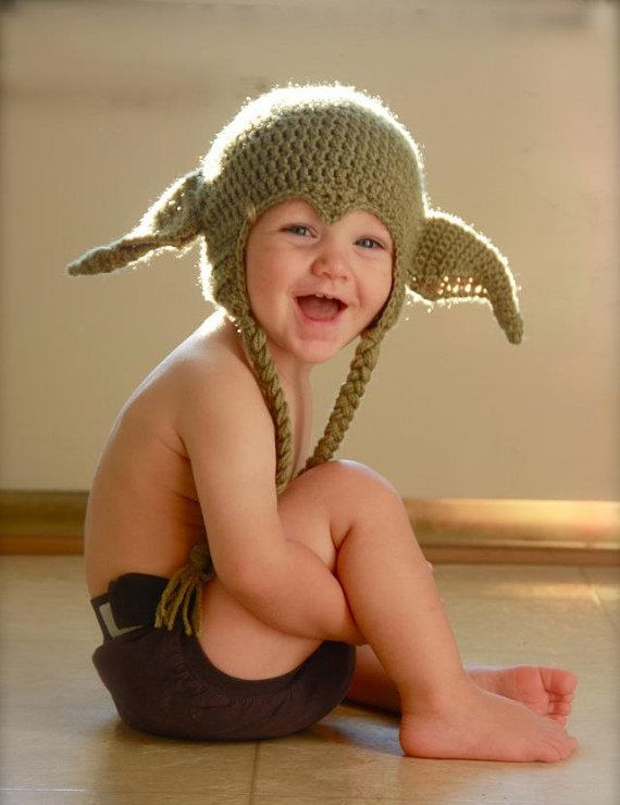 I'll take one in grown up size, please.Funny Hats, Yoda Hats, Crochet Hats, Star Wars, Children, Stars Wars, Future Baby, Kids, Winter Hats