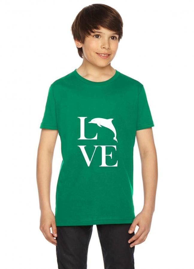 love dolphin funny Youth Tee