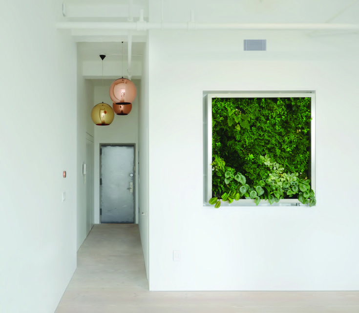 1of 2 Twin Vertical Gardens in a West Side Studio, NYC
