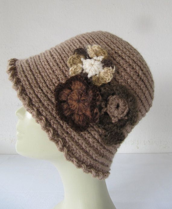 Light brown crochet hat. by SEVILSBAZAAR on Etsy, $27.00