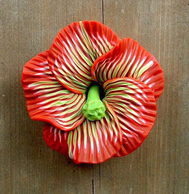 Wild Hibiscus Focal Bead by ZudaGay, via Flickr | Jewelry | Pinterest ...