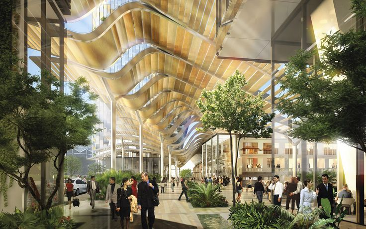 SouthBeach | Singapore | Foster + Partners A large environmental canopy enveloping much of the 34,950sm site mediates the harsh tropical climate, keeping out rain and direct sunlight while allowing wind to flow through the site.