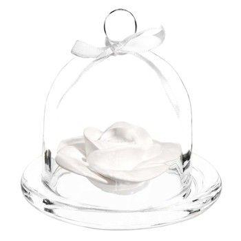 Cloche avec céramique parfumée H 10 cm ROSE