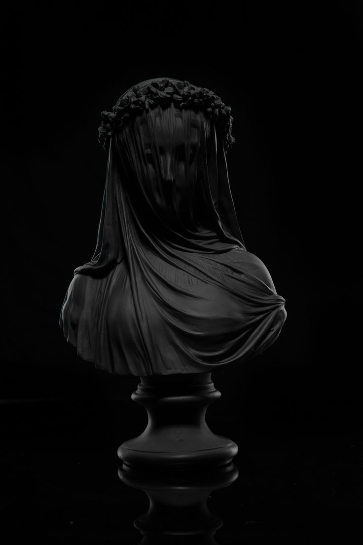 Black Statue all black everything, bride, sculpture Cast Resin Sculpture Dimensions 27 x 8 x 16""