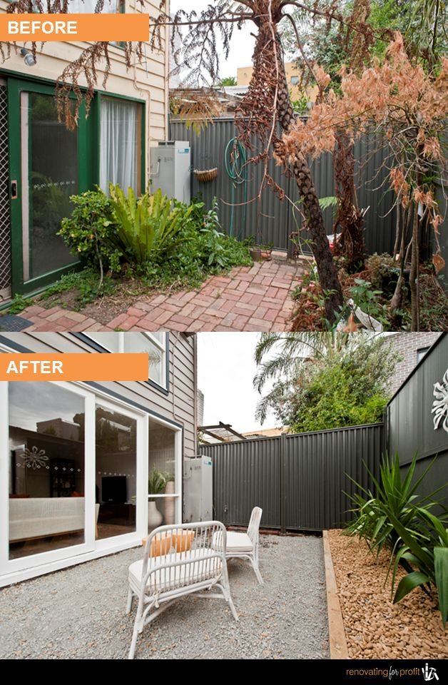 9 best renovation before after photos collingwood for Courtyard designs melbourne