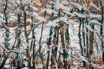 Trees in the snow 60 x 90cm