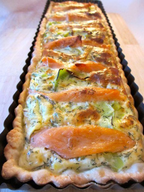 Quiche aux poireaux et au saumon fumé : Diet & Délices - Recettes dietétiques