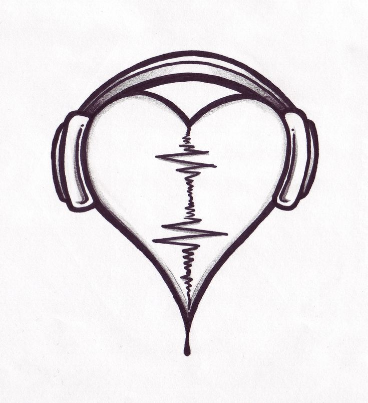 tattoo designs | Audio Heart Tattoo Design By Pointofyou