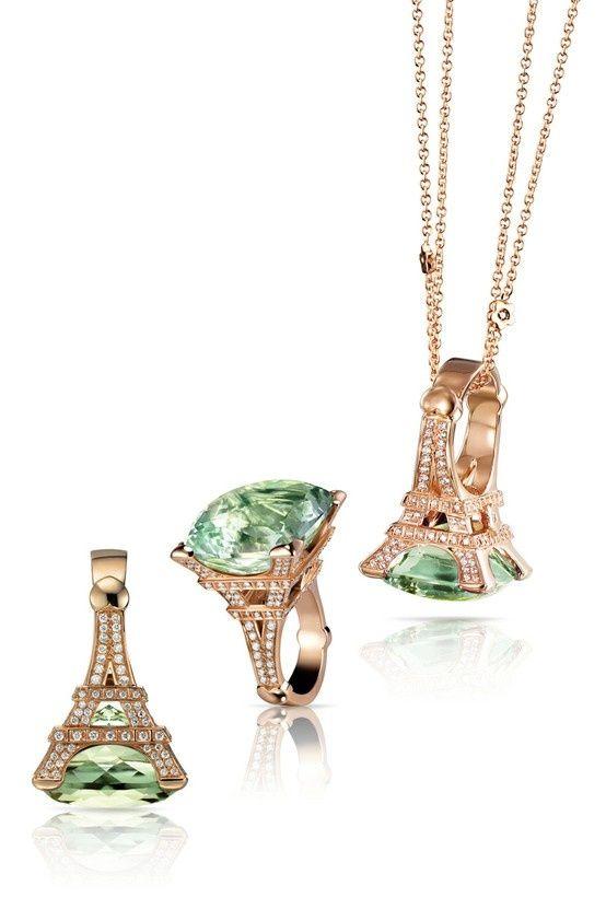 Emerald Eiffel Tower Ring.