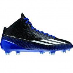 Adidas Adizero 5 Star 3.0 Mid Mens Football Cleats G98754 Black-White-Royal