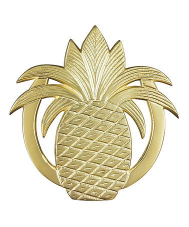 Loving this Gold Pineapple Trivet on #zulily! #zulilyfinds