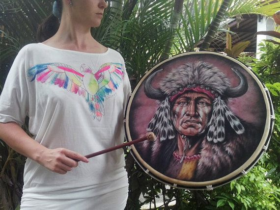 Treat yourself or your loved one to a beautiful Native American inspired hand drum today! It's a gift of a lifetime...