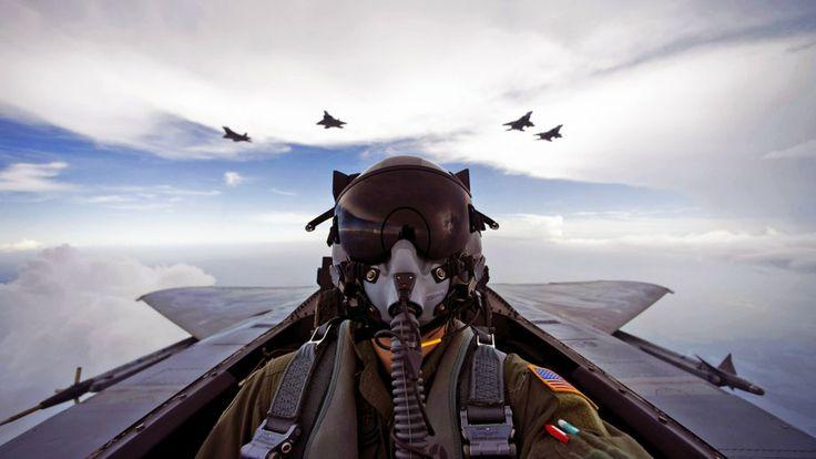 Jet Fighter Pilot Wallpaper - Wallnest