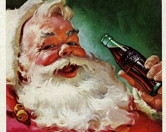 Vintage Norman Rockwell Christmas Art Tiny by zippitydoodlepaper