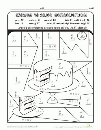 Multiplication Coloring Sheet 4th Grade : 1734 best coloring pages images on pinterest