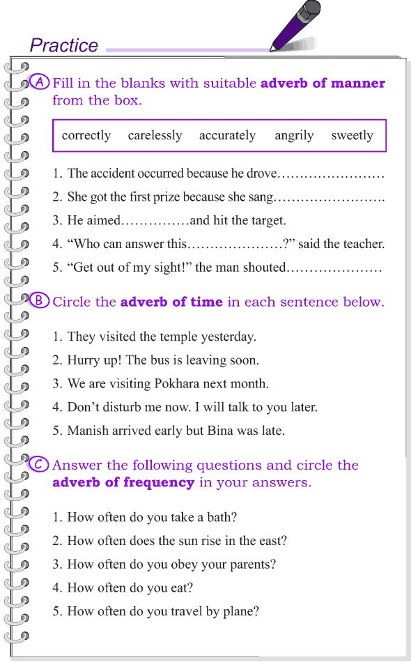 English Grammar Exercises With Answers For Class 7