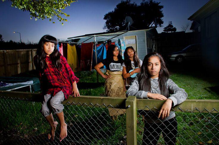 Lauryn, Luisa, Sini, Hilda. From the series: Tama'ita'i Pasifika Mao'i 2014 - Auckland Festival of Photography Annual Commission © Tanu Gago