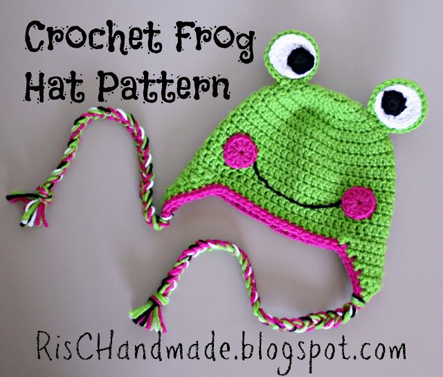 Crochet Frog Earflap Beanie Hat - Free Pattern...can use this pattern for the hat with the circles...