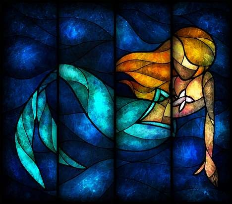 Stained Glass Princess window