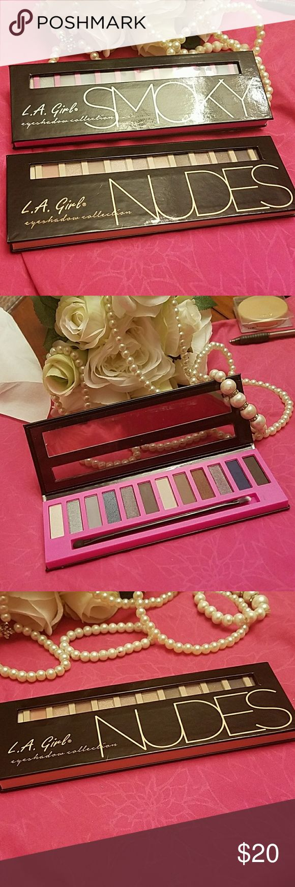 LA Girl Bundle Eyeshadow palettes Includes Smoky Pallet and Nudes Pallet. Price for both. Never touched. Sephora Makeup Eyeshadow