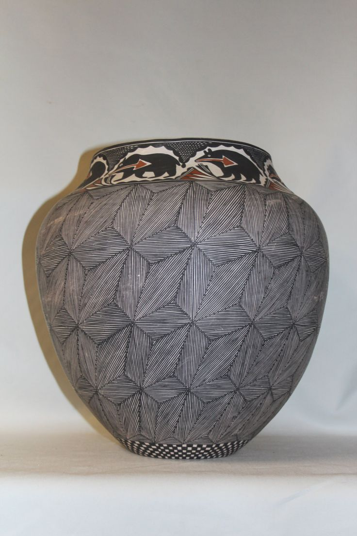 190 best art images on pinterest ceramic pottery pottery vase pottery jar native american acoma pottery jar by melissa antonio 64 reviewsmspy