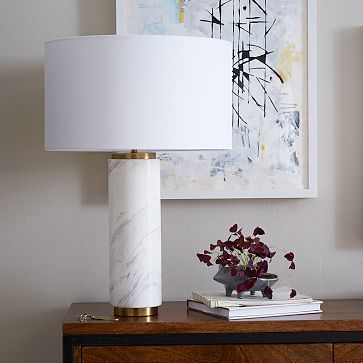 Buy west elm pillar table lamp marble from our desk table lamps range at john lewis