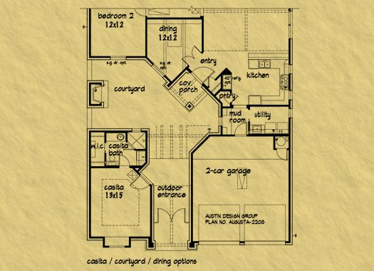 Casita house plan cool way to integrate a detached guest for Home plans with detached guest house
