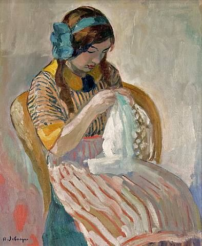 henri lebasque: Sewing People, Girls Generation, Lebasque18651937Young Girls, Lady Stitches, French 1865 1937, Girls Sewing Henry, Henry Lebasque18651937Young, Lebasqu 1865 1937, Lebasqu French