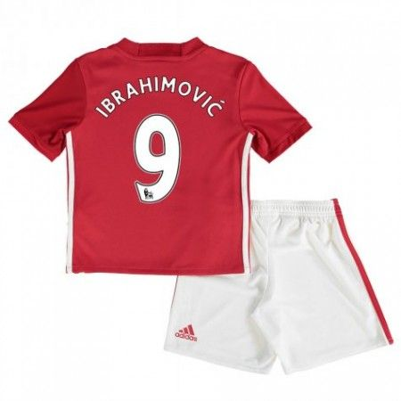 Manchester United Fotbollskläder Barn 16-17 Zlatan #Ibrahimovic 9 Hemmatröja Kortärmad,248,15KR,shirtshopservice@gmail.com