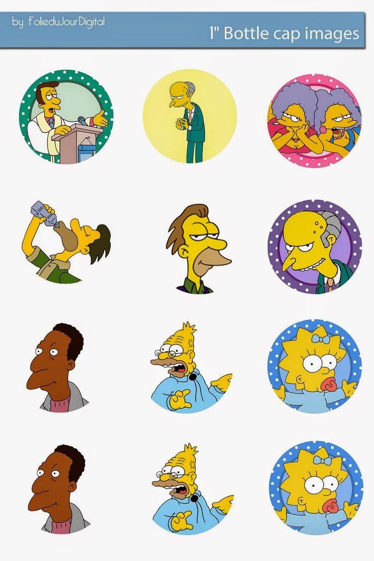 Free Bottle Cap Images: The Simpsons Free bottle cap images