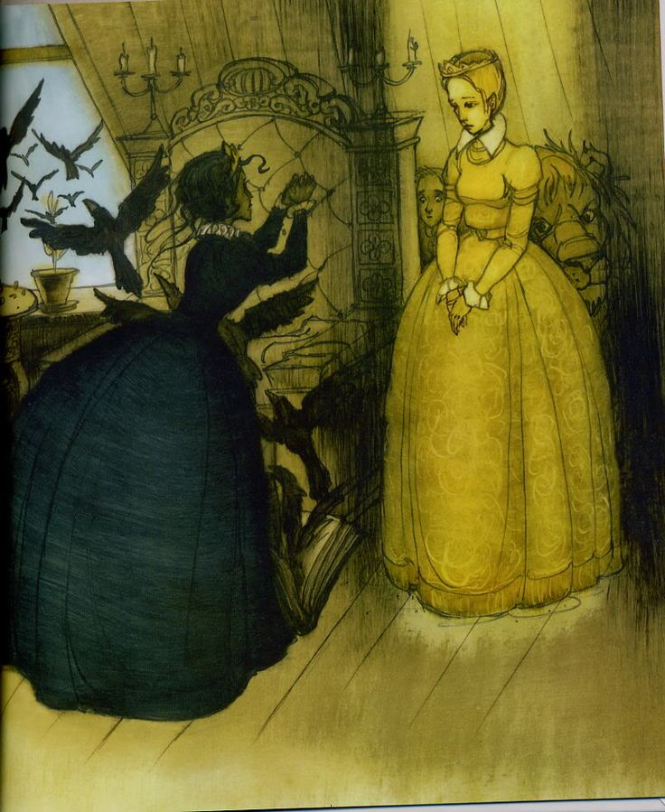 "Victor Chuguevsky illustration for ""Castle Black Queen""."
