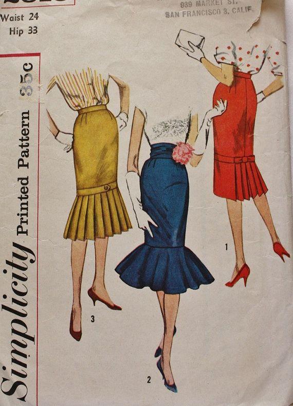 1950s Set of Skirts Elvira or Morticia Style Cummerbund ...