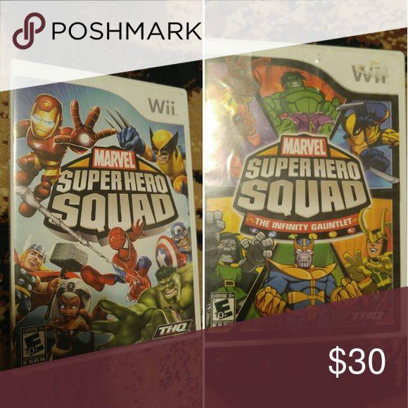 Wii Marvel Super Hero Squad game bundle Marvel Super Hero Squad Amazon price $42.45                Marvel Super Hero Squad the Infinity Gauntlet Amazon price $39.75 Marvel Other