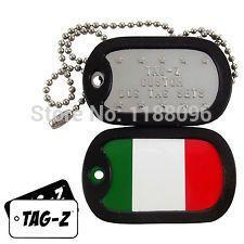 custom Military Dog Tags cheap Custom Embossed Flag dog Tag hot sales metal print dog tag necklace custom