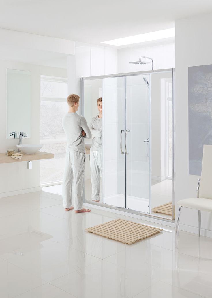 Mirror: Semi-Frameless Double Slider Door › Lakes Bathrooms