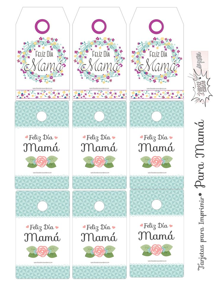 Tarjetas para Imprimir Día de las Madres.