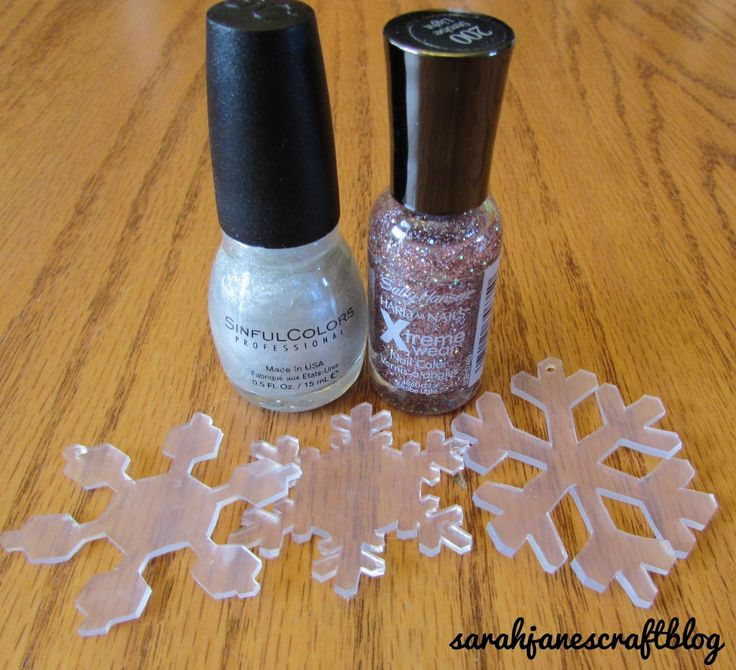 DIY Shrinky Dink Snowflake Ornaments made using #6 plastic take out containers.