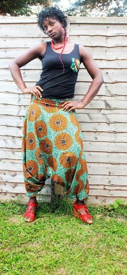 African Print Harems Jumpsuit Baggy Trousers by YORUBATIK on Etsy, $4.99