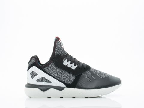 Adidas Originals In Black Grey White Tubular Runner