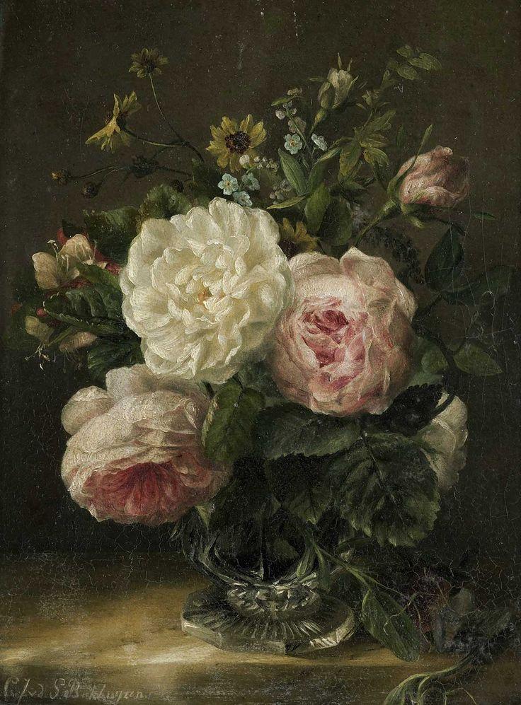 Stilleven met rozen   www.twoonhuis.nl
