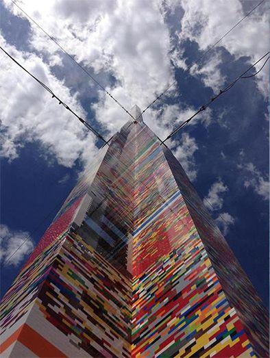 Najwyższa na świecie wieża z klocków Lego. Wysokość: 34,43 m. Produkcja: Stany Zjednoczone.