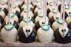 One Dozen Bride and Groom Wedding Cake Pops by MelindasMarvels, $36.00