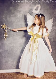 DIY Angel Costume (plus tutorial and pattern) | Scattered Thoughts of a Crafty Mom
