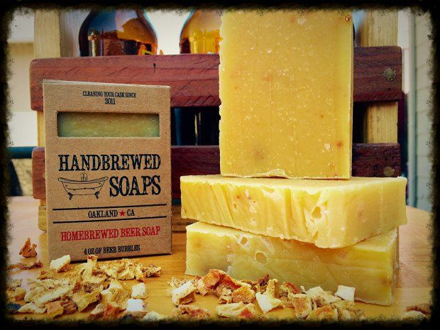 Soap made with homebrew. I am typically one to advocate getting the most out of your home brew, so this seems to be worth looking at.