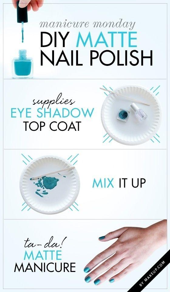 diy matte nail polish from old eyeshadow