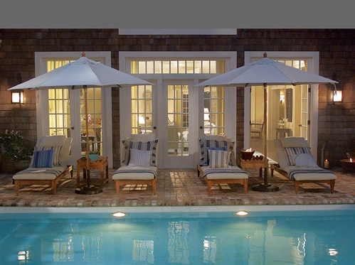 yard: Pools Area, Poolhous, French Doors, Beach Houses, Movie Sets, Pools Houses, Beaches Houses, Backyard Pools, Something Gotta